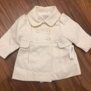 Baby girl Old Navy Pea Coat. 6-12 months.